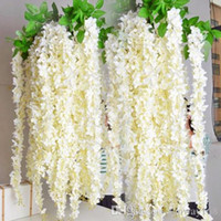 Wholesale Wedding party favors Artificial flowers M Silk Flowers Long Elegant Wisteria Vine Rattan For Wedding home Christmas decorations