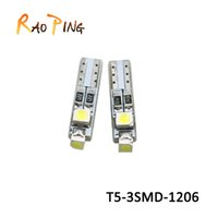 Marker Lamps auto instrument panel - T5 LED Interior Lights Car Instrument Cluster Panel light Wedge Bulbs White Pink Ice Blue Red Yellow Green Auto Light