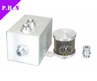 Wholesale 3L Aluminum oil catch can tank with breather drain tap LT in stock ready to ship