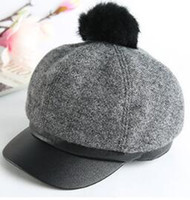 Wholesale New ladies fashion fashion caps in the fall and winter of Wool cap basin of female han edition leisure cap