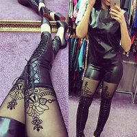 Wholesale Lady High Waisted Women s Sexy Faux Leather Stretch Skinny Pants Slim Leggings