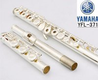 Wholesale 2017 Top High quality flute YFL H silver flute C tune musical instruments E key flute music