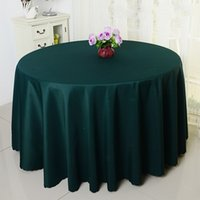 banquet tablecloth lot - 10PCS quot Tablecloth Table Cover Round Satin for Banquet Wedding Party Decoration Supplies DHL