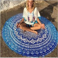 automatic towel - 20 style cm Round Colorful Beach Towels Bohemian Style Outdoor Pads Bikini Cover Up Blanket large Shawls