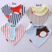 bandana embroidery - New Baby Bib Bandana Bib Baby Girl Bib Cotton Baby Bib Organic Fox Face penguin bird fish Bib In The Hoop Embroidery Machine Design
