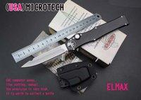Wholesale MICROTECH AP Custom HALO V T E satin Plain knife Tanto Edge single action Tactical knife knives with original box Berklee