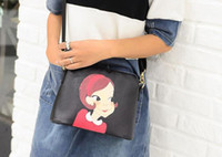 Wholesale The new fashion female bag lady printing shell single shoulder slope small bag bag little girl