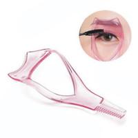 Wholesale Women Mascara Applicator Comb Eyelash Eye Lashes Curler Guide Card Makeup Plastic Tool Three dimensional Effects Eyelash Card