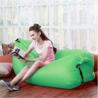 banana body art - Fast Inflatable Air Sleeping Bag Waterproof Lazy Sofa Bed Festival Camping Hiking Travel Hangout Beach Bag Bed Camping Banana Couch2017