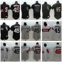 Wholesale 2016 New Chicago White Sox Michael Jordan Jersey White Black Gray Men s Throwback FlexBase Elite Baseball Jerseys
