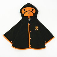 Poncho 5T-6T Sleeveless Gold Hands Boys Girls Kids Spring Winter Baby Cartoon Hooded Jackets Coat Fleece Cloak Cape Toddler Newborn Cute Cotton Outwear Jacket