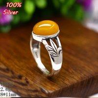 100% 925 Sterling-Silver-Jewelry Ajustable Oavl Anillo en blanco Fit 8 * 11MM hojas de configuración de la bandeja de piedras preciosas Placa de plata antigua
