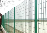 Wholesale High Quality Beautiful Double Horizontal Wire Fence Panel Powder Coated Twin Wire Mesh Fence for school playground and industries fencing