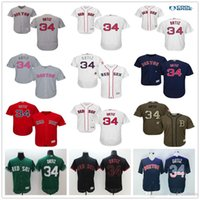 Rugby Men Short Boston Red Sox #34 David Ortiz Navy Blue Usa Flag Gray Red Black White Fashion Stars Green Stitched Majestic MLB Baseball Jerseys for Sale