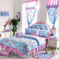 de lujo de estilo coreano ropa de cama conjunto de algodn princesa edredn de ropa de cama de las mujeres de encaje ropa de cama para nias y nios