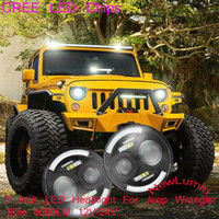 """LED light Left and right 2009 2010 2011 2012 2013 2014 2015 2pcs 7"""" Inch 80W Projector LED Headlight Halo Ring Angel Eyes for Offroad Jeep Wrangler 2009-2015 Hummer Harley"""