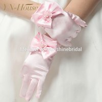 Wholesale New Fashion Party Wedding Gloves With Bows For Flower Girls