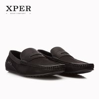 big brands flooring - XPER Brand Fashion Soft PU Breathable Men s Flats Shoes Slip on Mocassins Men Loafers Black Big Size CE86811BL