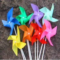 Montessori assembly toys - 100pcs Plastic Windmill Pinwheel Self assembly Colorful windmill children s toys Home Garden Yard Decor Outdoor Toy