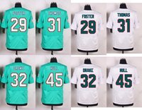 arian foster - Mens AF MIA Green White jersey Arian Foster Michael Thomas Kenyan Drake Mike Hull Stitched Jerseys