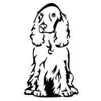 Precio de Perros perro de aguas-Etiqueta engomada del coche del nuevo producto para el perro creativo de la etiqueta del vinilo del perro de cocker spaniel que labra el arte de la decoración del carro