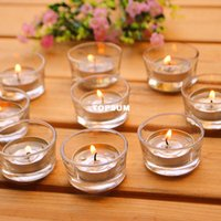Wholesale Small glass Candle Holders Clear Votives Tea Lights Wedding Centerpiece Plain Simple Round Candle Tealight Holder