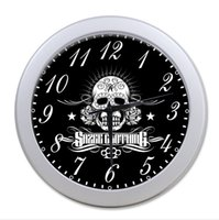 Wholesale POOKOO Sugar Skull Wall Clock border colours optional Accept Customized Good GIFT Idea