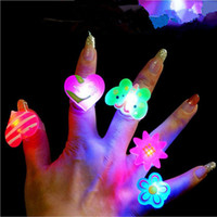 asian favors - 50pcs Birthday Wedding Party LED Glowing Finger Rings favors Cartoon Flashing Ring Light for Kids toys Events Party Favors Rings