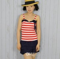 bathing suit clearance - Clearance special Navy wind Siamese skirt bathing suit cover was thin thin pants pants hot swimsuit