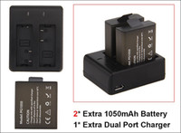 battery pack camera - 2Pcs mah Rechargeable Battery Charger Dual Travel Charger For EKEN H9 H9R H3 H3R H8PRO H8R H8 pro SJCAM SJ4000 SJ5000 Sports Camera