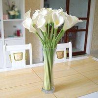 Wholesale DES FLORAL Decorative flower artificial White Mini Calla Lily Bundle for wedding decoration