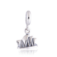 ale house - Genuine S925 Sterling Silver Beads Sydney Opera House Dangle For European Brand Bracelets ALE L252