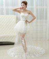 Wholesale Fishtail wedding dress new explosion beautiful bride wedding dress hot Korean fashion waist slim winter long tail