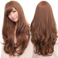 Wholesale Women Long Curly Wavy Full Wig Heat Resistant Hair For Cosplay Party Lolita Grace Synthetic Hair Wigs