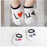 Wholesale The new baby cartoon asymmetric anti skid floor socks cotton a variety of styles drop shipping