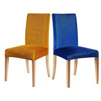 arm chair protectors - Hot Selling Spandex Chair Covers Elastic Home Dining Room Slipcover Solid Color Seat Protector Chair Covers JC0281