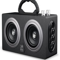 Wholesale High Power W Wooden Outdoor Bluetooth Speaker Stereo Super Bass Subwoofer Speakers Dancing Loudspeaker with FM Radio