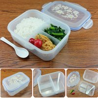 Wholesale Fashion High Capacity Dinnerware Sets PP Bento Lunch Box Food Container Handle Singel Layer Lunch Box TableWare High Quality