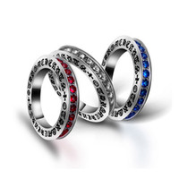 Wholesale Bohemian Vintage Multi Color CZ Stone With Side Stones Rings For Women Luxury Brand Jewelry Stainless Steel Buddha Rings New Arrival