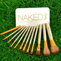 Wholesale Newest Gold Naked Makeup Brush Makeup Brushes Kit With Eye Shadow Professional Cosmetic Brushes Tool Kits BB Cream