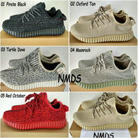 Cheap 2017 Original Adidas Yeezy 350 Boost Shoes Pirate Black Turtle Dove Moonrock Oxford Tan Womens Mens Running Shoes Kanye West Yzy 350 Yeezys