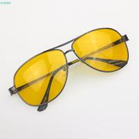 Vente en gros-meilleure qualité Vintage hommes HD pilote haute définition vision nocturne Yurt lunettes de soleil jaune google soleil lunettes grandes promotions