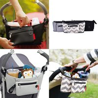 Wholesale New Outdoor Travel Baby Pram Storage Bag Baby Stroller Organizer Pushchair Bottle Basket Package Diaper Bags