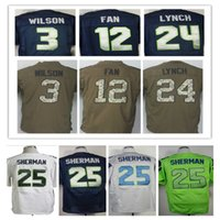 Wholesale 12th Fan Marshawn Lynch Richard Sherman Earl Thomas Kam Chancellor Jimmy Graham football