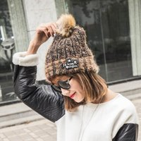 Wholesale Warm Women Winter Beanies Knit Hats Autumn Thicken Christmas Caps Girl Lady Warmer Cold proof Knitted Handmade Casual Hat