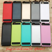 Wholesale For Iphone plus plus Slid Card Holder Mobile Back Cover Cell Phone Protector Case Dirt resistant