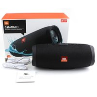 Wholesale JBL Charge3 Bluetooth Mini Speaker Bluetooth Speakers Waterproof Outdoor Subwoofer Speakers with retail box DHL Free