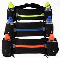 Wholesale Double Kettle Waist Bags Outdoor Cycling Running bag Jogging Walking Waist Belt Bag Pack Pot Holder Stander Running Bag OOA1228