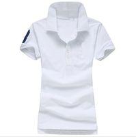 Wholesale Hot Sale Woman Polos T Shirt Top Quality Femal Short Sleeve Solid T Shirt Classic Woman Polos S M L XL