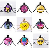 best chain for pendant - Necklace DreamWorks Poppy Trolls Glass Jewlery Body Chain Movie Cartoon Jewelry Styles Trolls Pendant Necklaces for Best Xmas Gift